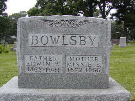 BOWLSBY, MINNIE B. - Polk County, Iowa | MINNIE B. BOWLSBY
