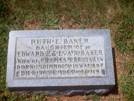 BAKER BRADSHAW, RUTH E. - Polk County, Iowa | RUTH E. BAKER BRADSHAW