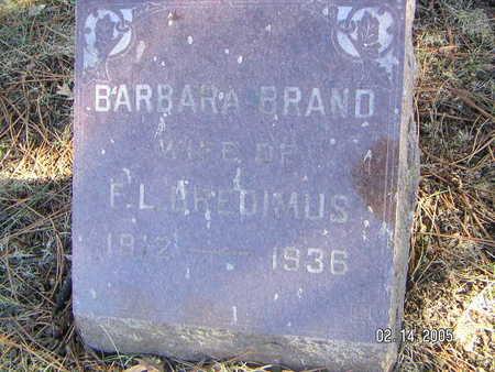 BRAND, BARBARA - Polk County, Iowa   BARBARA BRAND