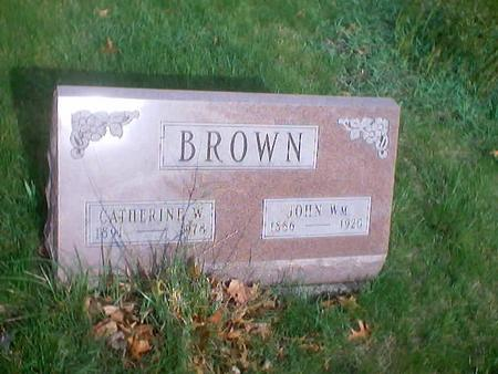 BROWN, JOHN WILLIAM - Polk County, Iowa | JOHN WILLIAM BROWN
