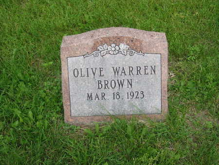 BROWN, OLIVE - Polk County, Iowa | OLIVE BROWN