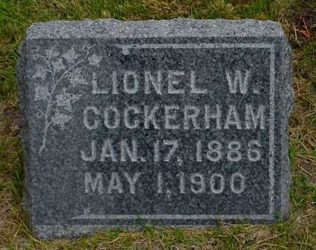 COCKERHAM, LIONEL W. - Polk County, Iowa | LIONEL W. COCKERHAM