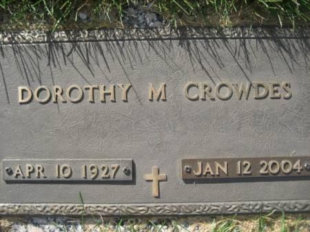 CROWDES, DOROTHY M - Polk County, Iowa   DOROTHY M CROWDES