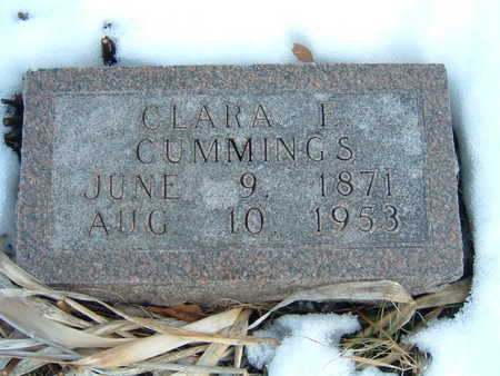 CUMMINGS, CLARA E. - Polk County, Iowa | CLARA E. CUMMINGS