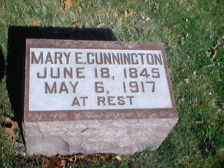 CUNNINGTON, MARY E. - Polk County, Iowa | MARY E. CUNNINGTON