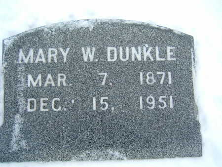 DUNKLE, MARY W. - Polk County, Iowa | MARY W. DUNKLE