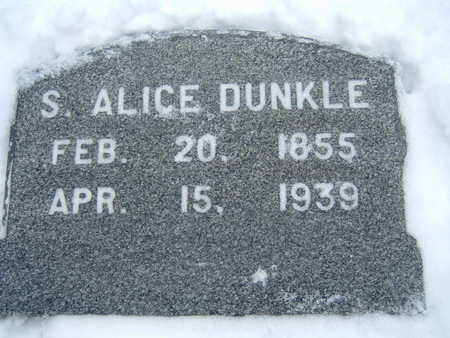 DUNKLE, S. ALICE - Polk County, Iowa | S. ALICE DUNKLE