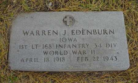 EDENBURN, WARREN J. - Polk County, Iowa | WARREN J. EDENBURN