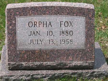 FOX, ORPHA - Polk County, Iowa | ORPHA FOX