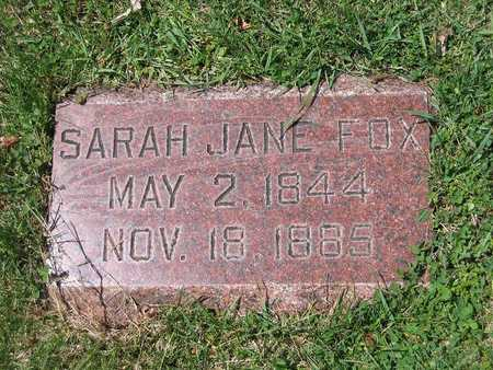 RICKETTS FOX, SARAH JANE - Polk County, Iowa | SARAH JANE RICKETTS FOX