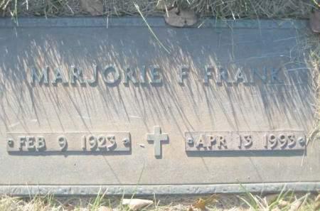 FRANK, MARJORIE F - Polk County, Iowa | MARJORIE F FRANK