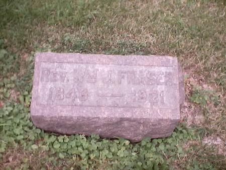 FRASER, WILLIAM JAMES, REV. - Polk County, Iowa   WILLIAM JAMES, REV. FRASER