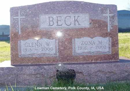 BECK, ZONA M. - Polk County, Iowa | ZONA M. BECK