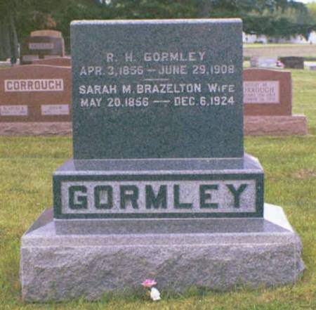 GORMLEY, R. H. & GARAH M. BRAZELTON - Polk County, Iowa | R. H. & GARAH M. BRAZELTON GORMLEY