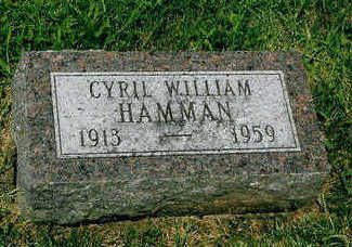 HAMMAN, CYRIL WILLIAM - Polk County, Iowa | CYRIL WILLIAM HAMMAN