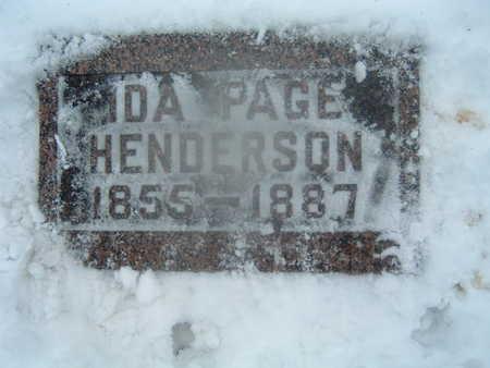 PAGE HENDERSON, IDA - Polk County, Iowa | IDA PAGE HENDERSON