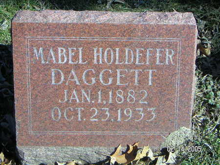 DAGGETT HOLDEFER, MABEL - Polk County, Iowa | MABEL DAGGETT HOLDEFER