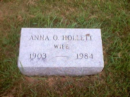 HOLLETT, ANNA O. - Polk County, Iowa | ANNA O. HOLLETT