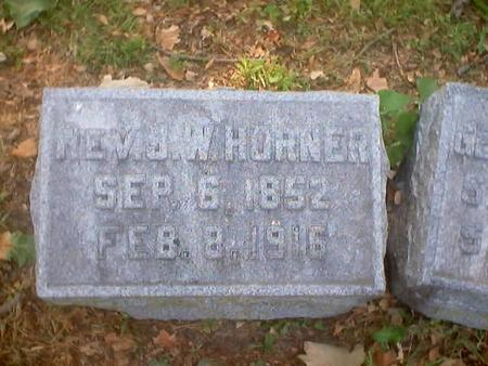 HORNER, JOHN W., REV. - Polk County, Iowa | JOHN W., REV. HORNER