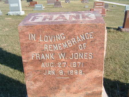 JONES, FRANK W. - Polk County, Iowa | FRANK W. JONES