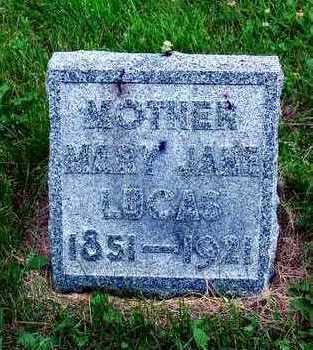 LUCAS, MARY JANE - Polk County, Iowa   MARY JANE LUCAS