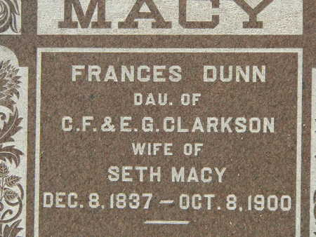DUNN MACY, FRANCES - Polk County, Iowa | FRANCES DUNN MACY