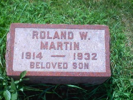 MARTIN, ROLAND W. - Polk County, Iowa | ROLAND W. MARTIN