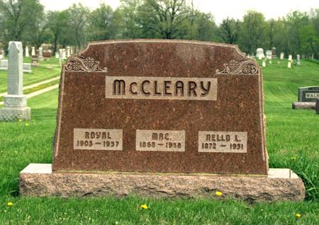 MCCLEARY, ROYAL - Polk County, Iowa | ROYAL MCCLEARY