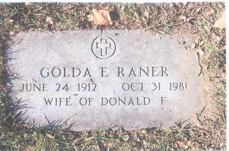 DOUGLAS MCKIBBAN RANER, GOLDA ETHEL - Polk County, Iowa | GOLDA ETHEL DOUGLAS MCKIBBAN RANER