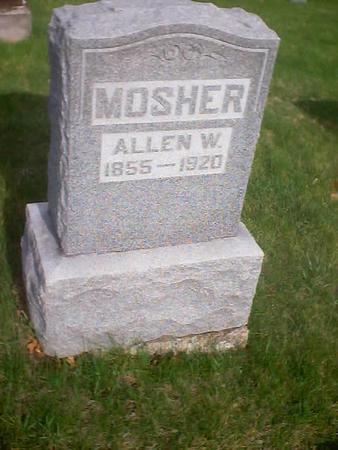 MOSHER, ALLEN W. - Polk County, Iowa | ALLEN W. MOSHER