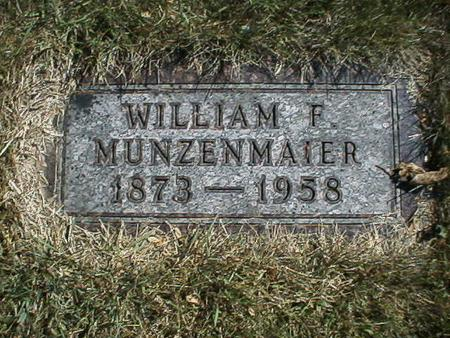 MUNZENMAIER, WILLIAM - Polk County, Iowa | WILLIAM MUNZENMAIER