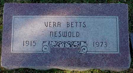 BETTS NESWOLD, VERA - Polk County, Iowa | VERA BETTS NESWOLD