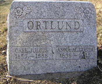 ORTLUND, ANNA AUGUSTA - Polk County, Iowa | ANNA AUGUSTA ORTLUND