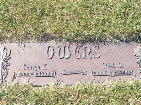 WALLACE OWENS, GEORGE AND ETHEL - Polk County, Iowa | GEORGE AND ETHEL WALLACE OWENS