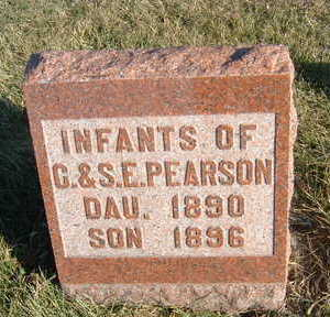 PEARSON, INFANTS OF C. & S.E. - Polk County, Iowa | INFANTS OF C. & S.E. PEARSON