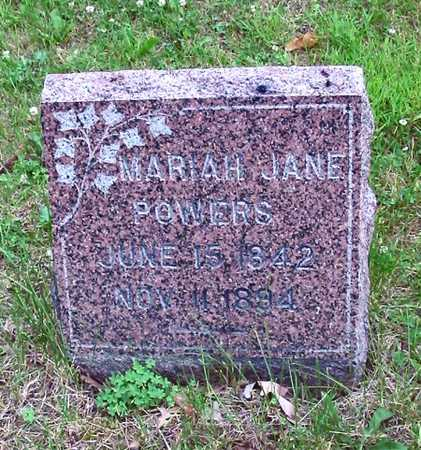 POWERS, MARIAH JANE - Polk County, Iowa | MARIAH JANE POWERS