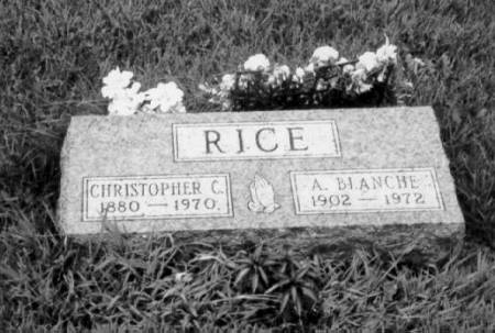 RICE, CHRISTOPHER COLUMBUS & ANNETTA BLANCHE - Polk County, Iowa | CHRISTOPHER COLUMBUS & ANNETTA BLANCHE RICE
