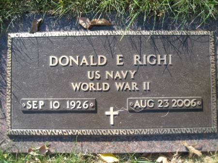 RIGHI, DONALD E - Polk County, Iowa | DONALD E RIGHI