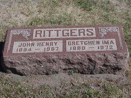 RITTGERS, JOHN HENRY - Polk County, Iowa | JOHN HENRY RITTGERS