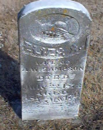 SAMPSON, ELIZA A. - Polk County, Iowa | ELIZA A. SAMPSON
