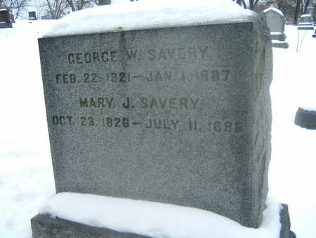 SAVERY, GEORGE W. - Polk County, Iowa | GEORGE W. SAVERY