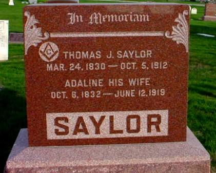 SAYLOR, ADALINE F. - Polk County, Iowa | ADALINE F. SAYLOR