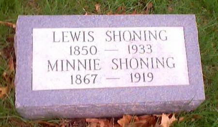 SHONING, MINNIE - Polk County, Iowa | MINNIE SHONING