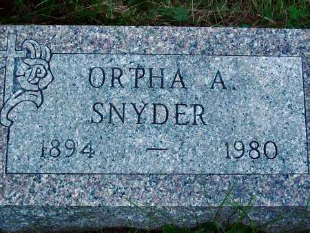 SNYDER, ORPHA A. - Polk County, Iowa | ORPHA A. SNYDER