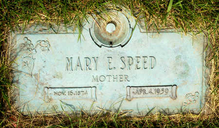 SPEED, MARY E. - Polk County, Iowa | MARY E. SPEED