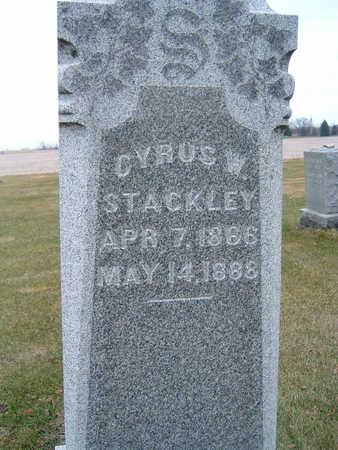 STACKLEY, CYRUS W. - Polk County, Iowa   CYRUS W. STACKLEY