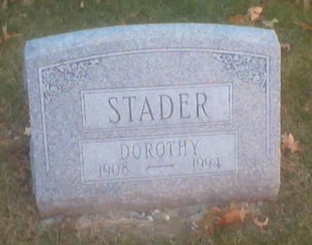 STADER, DOROTHY - Polk County, Iowa | DOROTHY STADER