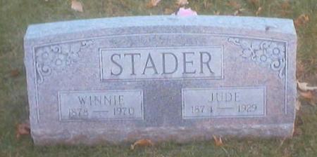 STADER, JULIUS (JUDE) - Polk County, Iowa | JULIUS (JUDE) STADER