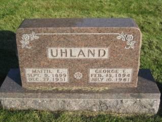 UHLAND, GEORGE - Polk County, Iowa | GEORGE UHLAND