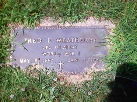 WEATHERBY, FRED E. - Polk County, Iowa | FRED E. WEATHERBY
